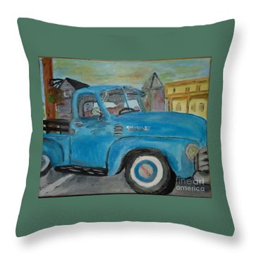 50 Chevy In Tannersville Throw Pillow
