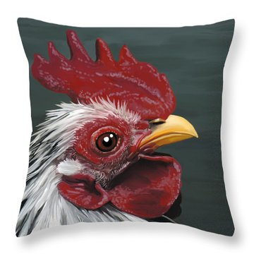 50. Just Head Throw Pillow