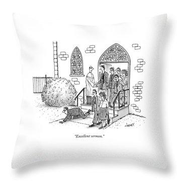 Excellent Sermon Throw Pillow
