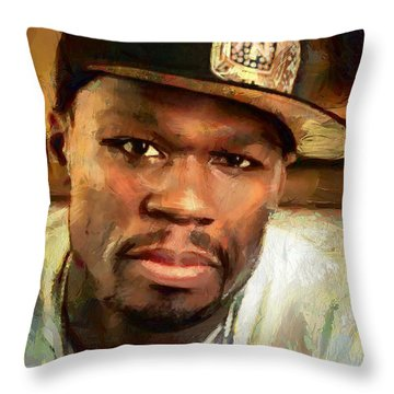 Throw Pillow featuring the painting 50 by Wayne Pascall