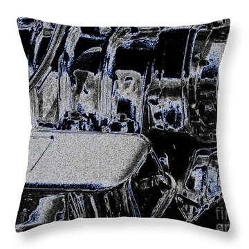 Throw Pillow featuring the digital art 502 by Chris Thomas