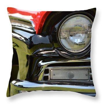 50's Ford Throw Pillow by Dean Ferreira