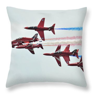 50th Anniversary 'red Arrows' Throw Pillow