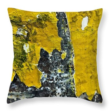 Yellow Post 2 Throw Pillow