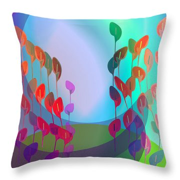 510 - Pastel Flowers ... Throw Pillow by Irmgard Schoendorf Welch