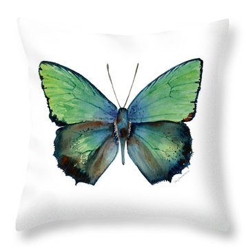 52 Arhopala Aurea Butterfly Throw Pillow