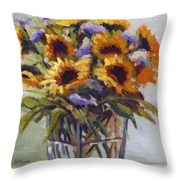 Summer Bouquet 4 Throw Pillow