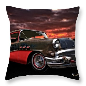 53 Buick Special Two Door Throw Pillow