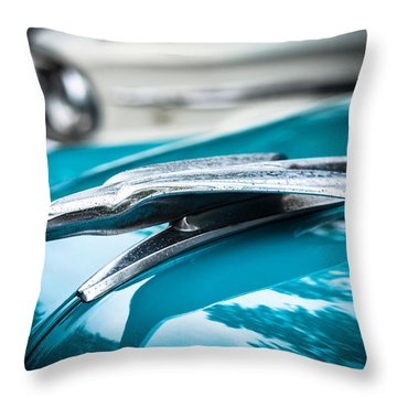 '53 Ford Bel Air Hood Ornament Throw Pillow