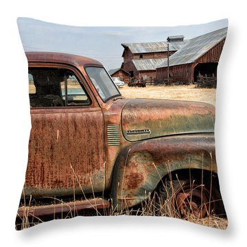 '54 Chevy Put Out To Pasture Throw Pillow