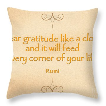 54- Rumi Throw Pillow