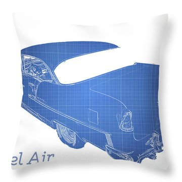 Old Car Throw Pillow featuring the photograph '55 Bel Air by Aaron Berg