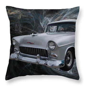 55 Chevy Throw Pillow