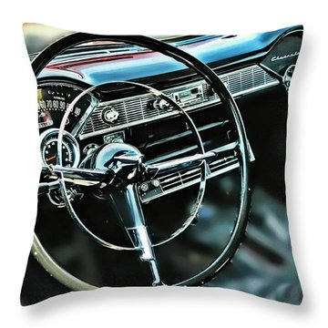 '55 Dash Throw Pillow by Victor Montgomery