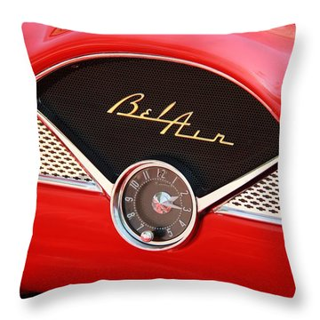 Classic Cars Throw Pillow featuring the photograph '56 Bel Air by Aaron Berg