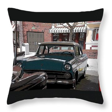 56 Ford Art01 Throw Pillow