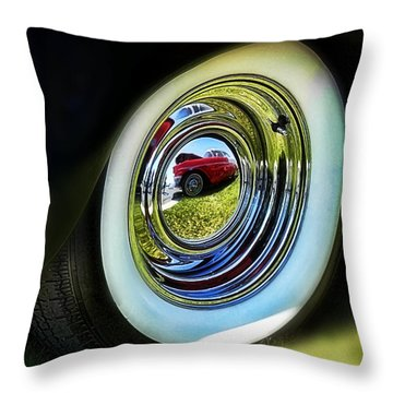 '56 Reflection Throw Pillow by Victor Montgomery