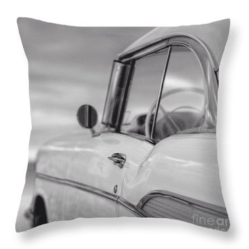 57 Chevy Belair At The Beach Throw Pillow