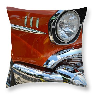 '57 Chevy Closeup Throw Pillow