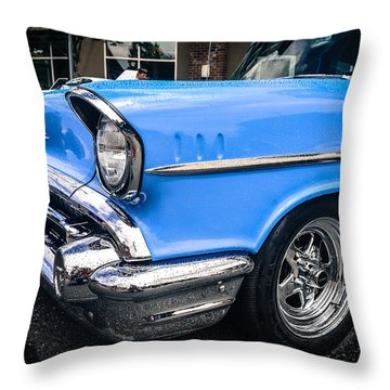 Throw Pillow featuring the photograph '57 Chevy by Ronda Broatch