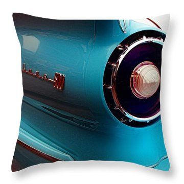 Old Car Throw Pillow featuring the photograph '57 Fairlane 500 by Aaron Berg