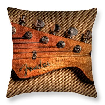 '57 Stratocaster Throw Pillow