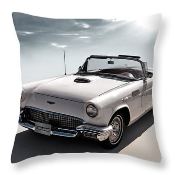 57 T-bird Throw Pillow