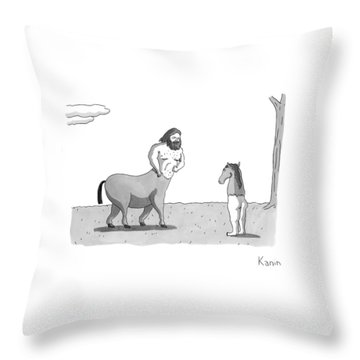 New Yorker September 7th, 2009 Throw Pillow by Zachary Kanin