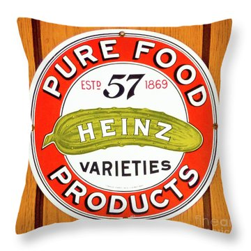 57 Varieties Throw Pillow