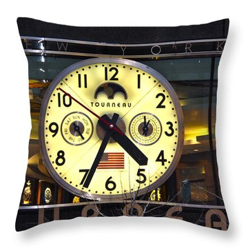 57th Street And Madison Avenue Throw Pillow
