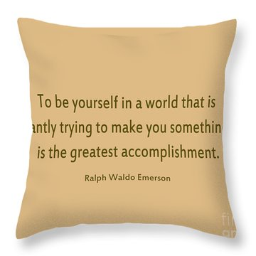 58- Ralph Waldo Emerson Throw Pillow by Joseph Keane
