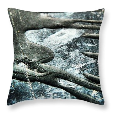 Water On The Cooker Hob Throw Pillow