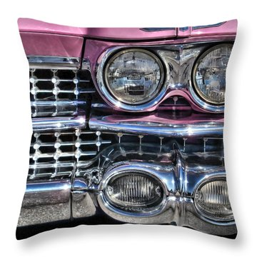 59 Caddy Lights Throw Pillow by Victor Montgomery