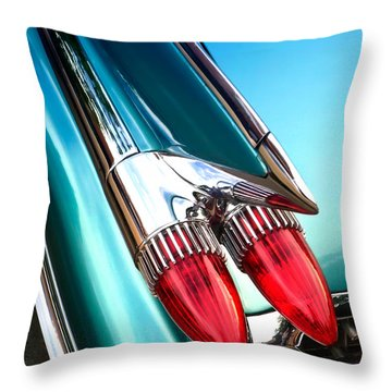 '59  Caddy Tail Fins Throw Pillow