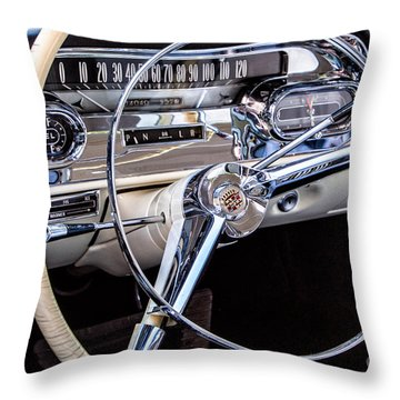 58 Cadillac Dashboard Throw Pillow