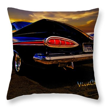 59 Chevy Impala Hardtop Throw Pillow