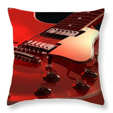 '59 Dot Neck Gibson Es-335 Throw Pillow by Dan Terry