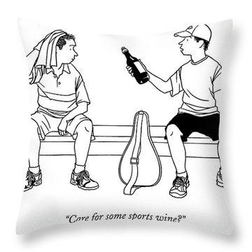 Care For Some Sports Wine? Throw Pillow