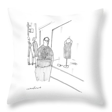 New Yorker March 13th, 2006 Throw Pillow