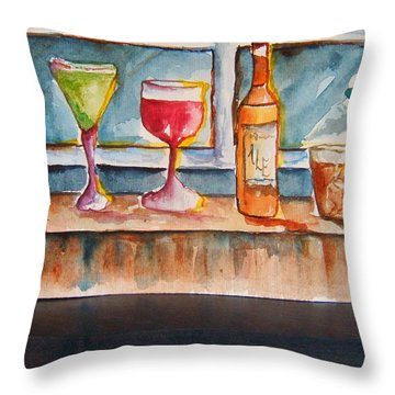 5pm Somewhere Throw Pillow