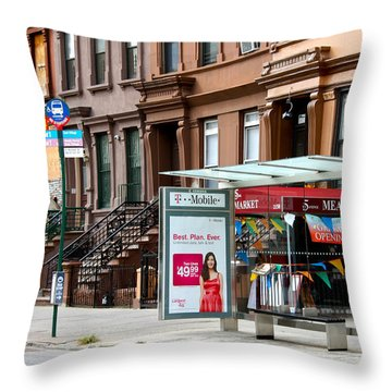 5th Ave And West 132nd Street Throw Pillow