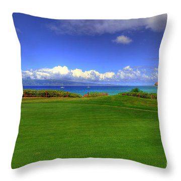 5th Hole Throw Pillow