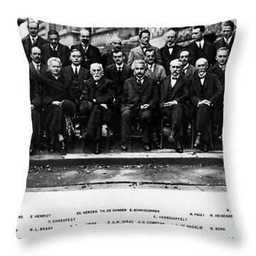 5th Solvay Conference Of 1927 Throw Pillow