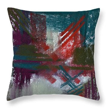 Foggy Morning Throw Pillow by Tracy L Teeter