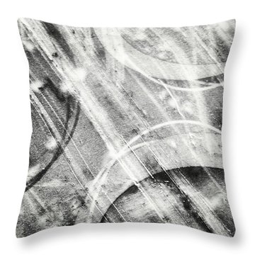 Circles Throw Pillow by Jason Michael Roust