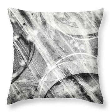 Circles Throw Pillow by Jason Michael Roust