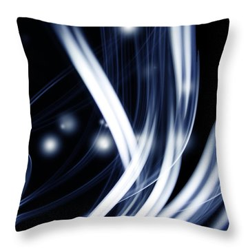 Blue Lines  Throw Pillow by Les Cunliffe