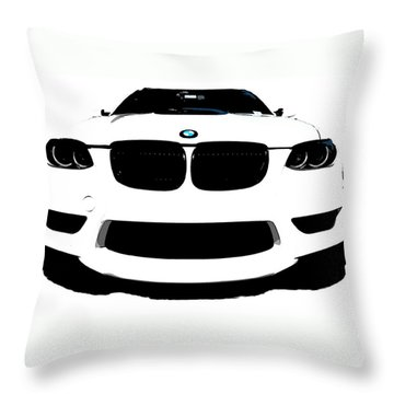 BMW Throw Pillow by J Anthony