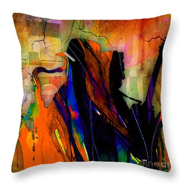 Bruce Springsteen And Clarence Clemons Throw Pillow by Marvin Blaine