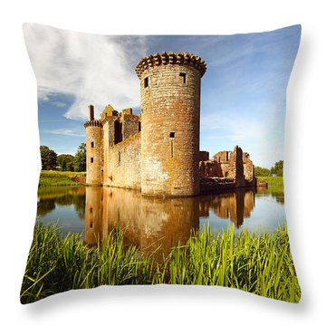 Caerlaverock Castle Throw Pillow